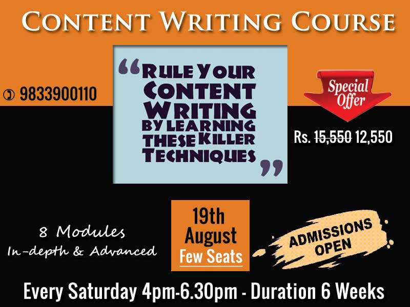 content writing images and course