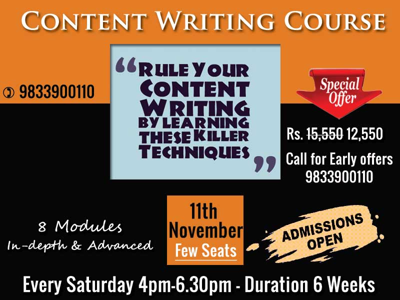 content writing course in mumbai