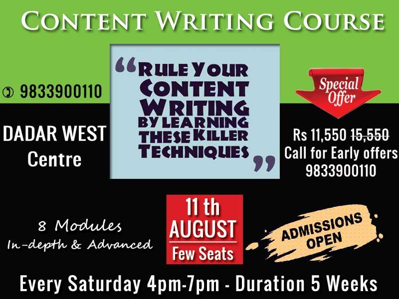 content writing course mumbai poonam mashru