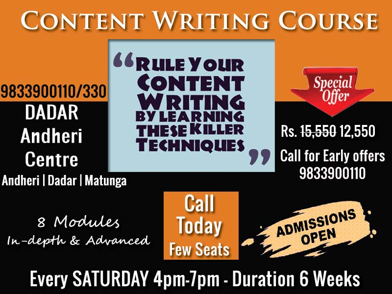 Content Writing Course Mumbai